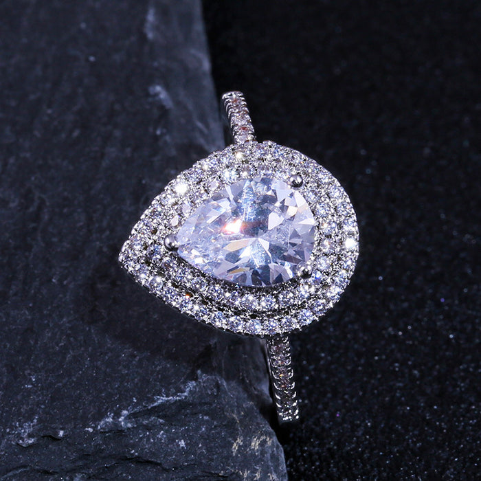 CIALEN Pear shaped drop diamond ring GLAMOUS