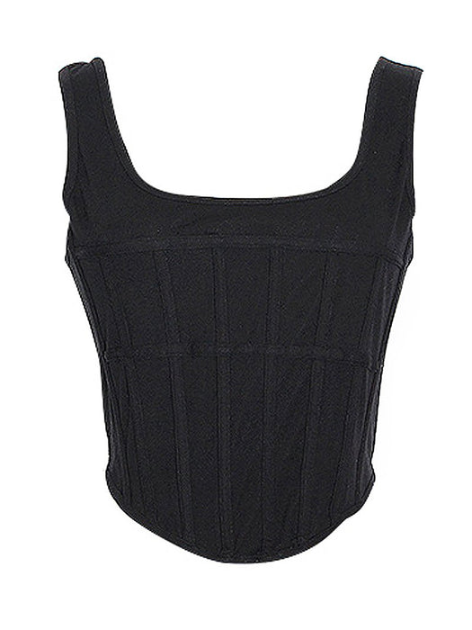 U Neck Corset Tank Top