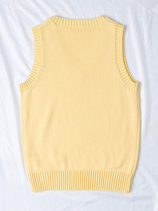 Chicks Embroidered Sweater Vest