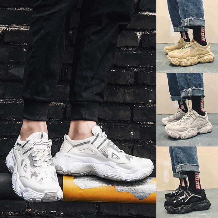 Men Sneakers Men Lace-up Front Chunky Sneakers