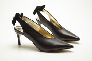 SS20001 Pointy Sling back heel wwith removable bow 20% off - Sam Star shoes