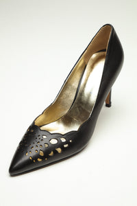 SS19004 Laser Cut Leather Court Shoes -15% off - Sam Star shoes