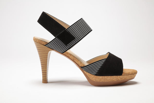 SS17002 Leather platform Sandals with elastic 20% off - Sam Star shoes