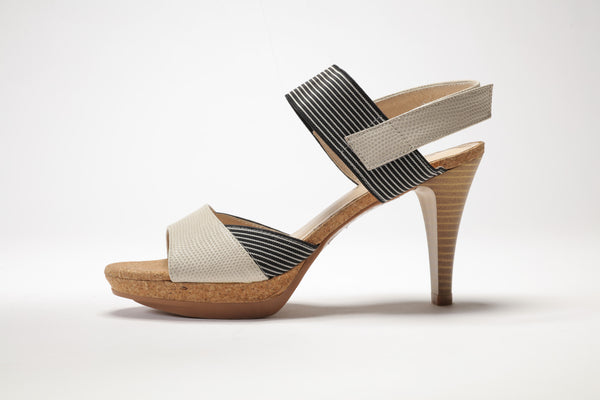 SS17002 Leather platform Sandals with elastic up to 30 % off - Sam Star shoes