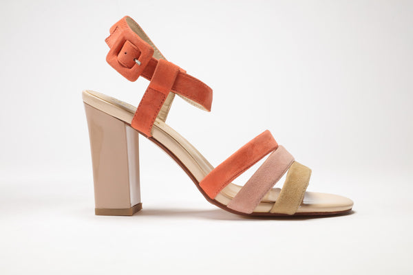 SS17009 Colour blocking leather sandals up to 30% off - Sam Star Shoes