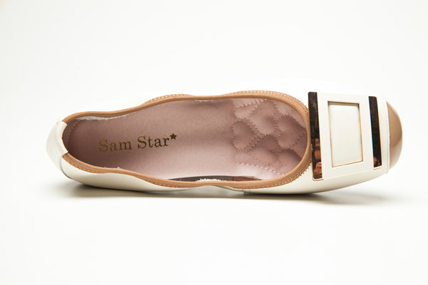 14W01 Buckle pumps with extra cushions - Sam Star shoes