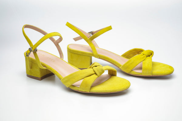 SS19003 Suede Summer Block Heel Sandal R300 off - Sam Star Shoes