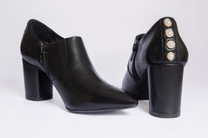 SW19006 Leather Ankle Bootie with Pearls R200 off now - Sam Star shoes