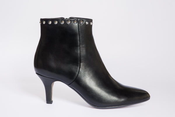 SW19004 Studded Leather Ankle Boots R200 off - Sam Star shoes