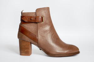 SW19008 Leather Boots with Strap Design ( extra cushion inside) 20% off - Sam Star shoes