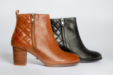 SW19009 Quilted Ankle Boots (extra cushion inside) - Sam Star shoes