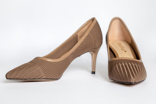 SS20005 Knit Court Shoes in tan 30% off - Sam Star shoes