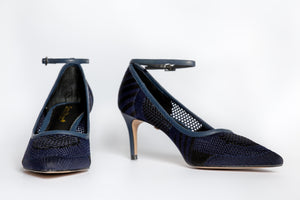 SS20004 Knit Court Shoes in Navy - 20% off - Sam Star shoes