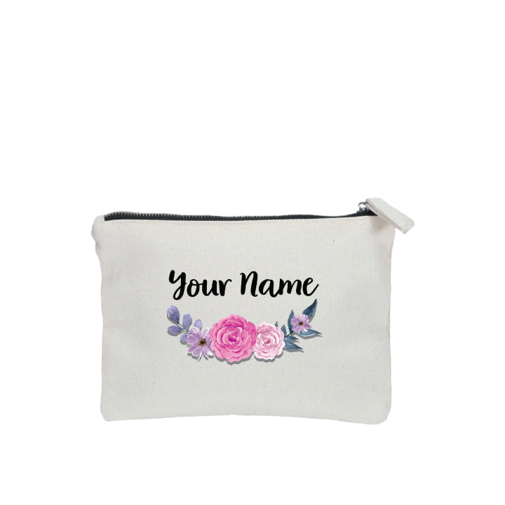 Purple Rose Zipper Pouch