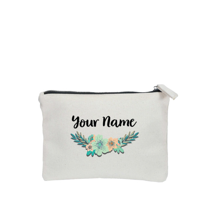 Stylish Flower Zipper Pouch