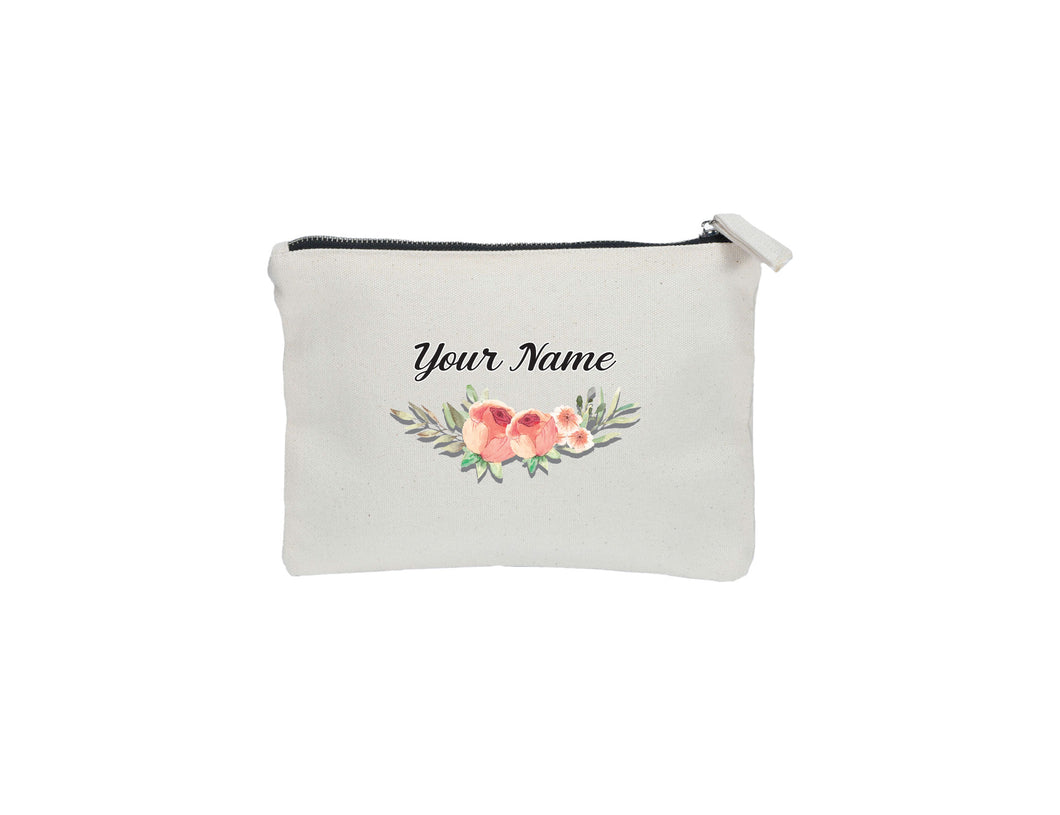 Orange Rose Zipper Pouch