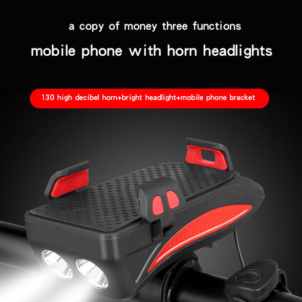 4 in 1 Multi-function Bicycle Light --USB Rechargeable
