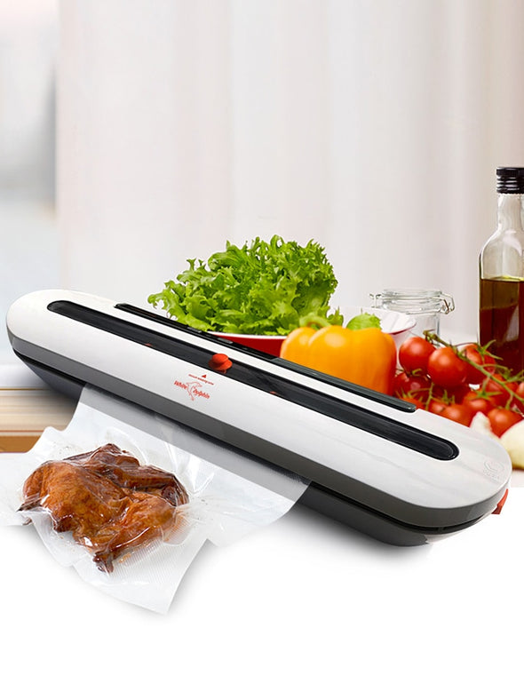 Stay-Fresh Electric Food Vacuum: 10 PCS Storage Bags Included: Fast US Shipping!
