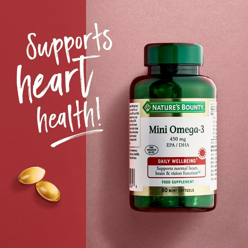 Nature's Bounty Mini Omega-3 450mg 60s mini softgels