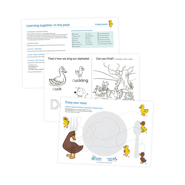 Learning Together with music - downloadable activity packs
