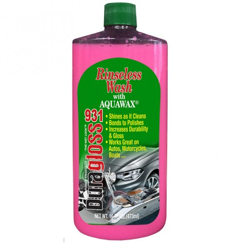 16oz - Duragloss Rinseless Wash with Aquawax