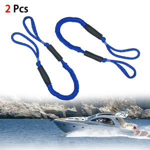 2PCS 5.5Foot Heavy Duty Nylon Marine Mooring Rope Boat Bungee Dock Line Anchor Rope Anchoring Docking for Camping Hiking