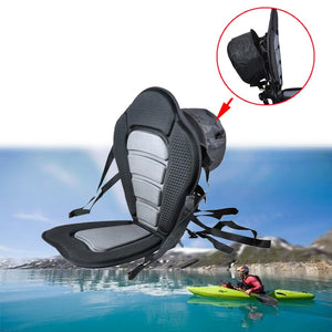 Adjustable Kayak Backrest Seat Base Inflatable Boat Padded Seat Storage Backpack Cushion Rowing Fishing PVC Boat Accessories