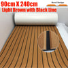 "Upgraded Teak Decking Sheet Yacht Boat Flooring Non-slip Carpet Mat 90cm240cm/35.4""94.5"" Light Brown In Black Marine Accessories"