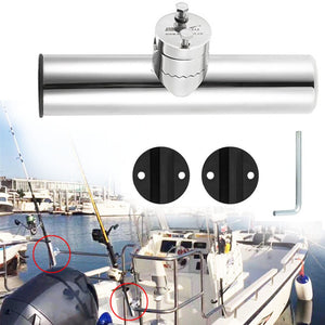 For 19-25mm Wear Resistance Marine Boat Anti-rust Stainless Steel Fishing Rod Holder Rail Mount Adjustable Hardware Horizontal