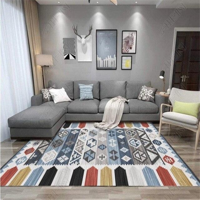 Bohemia Ethnic Style Carpets Living Room Bedroom Crystal Cashmere Printed Coffee Table Rugs European Carpet Bath Toilet Mat - LikeRE Marketplace