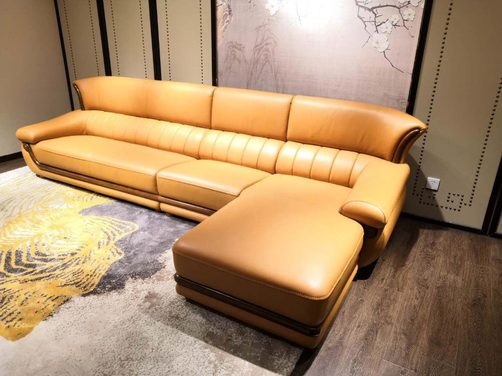 New design home Genuine leather sofa  real leather sofa 3.55 meters length leather sofa