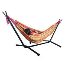 Load image into Gallery viewer, Portable Outdoor Polyester Hammock Set With Hammock Stand Handbag For Outdoor Camping Travel Beach And Indoor Use