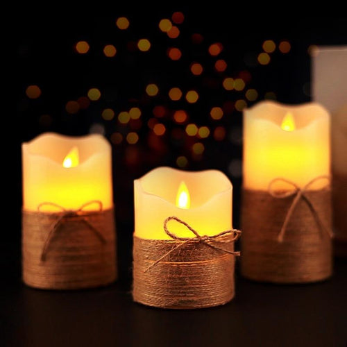 3PCS Realistic Candle Flameless LED Candle Light  With Remote Control For Home Bars Hotel Party Wedding Holiday Decor - LikeRE Marketplace