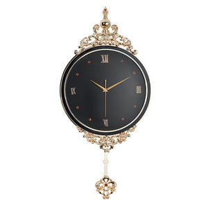 New Northern European Style Swingable Wall Clock Modern Design Living Room Large Decorative Wall Clocks Luxury Metal Home Decor