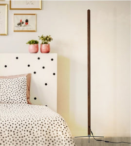 Nordic Minimalist Modern Floor Lamp Creative Site Lamp Personality Led Stand Light Bedroom Living Room Decor Wooden Floor Lights