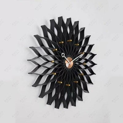 Sunflower Wall Clock Wrought Iron Personality Living Room Clocks Creative Fashion Mute Home Modern Decorative Clock R2272