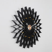 Load image into Gallery viewer, Nordic Metal Sunflower Wall Clock Design Creative Atmosphere Luxury Art Quartz Clocks Silent Wall Watch Home Decor R2272