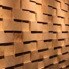 Load image into Gallery viewer, Solid Wood Mosaic TV Background Decorative Wall Bar Wall Decoration Restaurant Wall Decoration Coffee Shop Decoration
