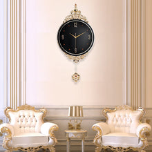 Load image into Gallery viewer, New Northern European Style Swingable Wall Clock Modern Design Living Room Large Decorative Wall Clocks Luxury Metal Home Decor