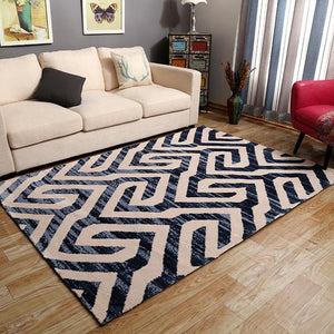 100% Acrylic Nordic Carpet For Living Room Geometric Thicken Carpet Home Bedroom White Gray Modern Large Rugs Coffee Table Mat - LikeRE Marketplace