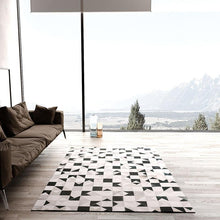 Load image into Gallery viewer, Black and white luxury cowhide patch work rug  , modern natural milch cow skin carpet  for living room   decoration floor mat - LikeRE Marketplace
