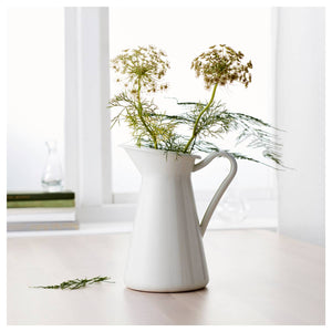 Flower-Vase Storage-Bucket-Tool Pitcher Container Wedding Home Decor Ornament Shabby Chic Cream Flower Vase Retro Iron Tub