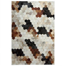 Load image into Gallery viewer, American style natural cowhide seamed rug  , brown color genuine cows skin carpet for living room, fur bedside carpet - LikeRE Marketplace