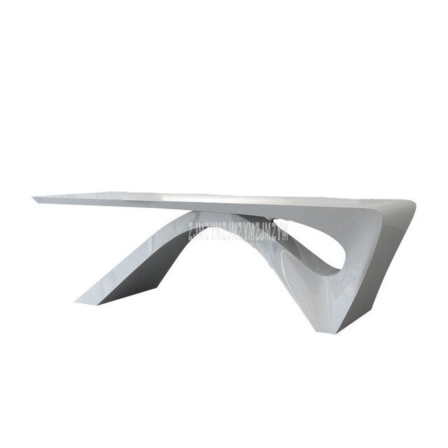 Simple Nordic Wooden Laptop Computer Table Special Shape Executor Manager's Office Desk Table Fashion Office Furniture White