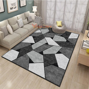 Nordic Carpets Geometric Carpets For Living Room Coffee Table Area Rug Kids Play Mat Soft Bedroom Carpet Sofa Coffee Table Rug