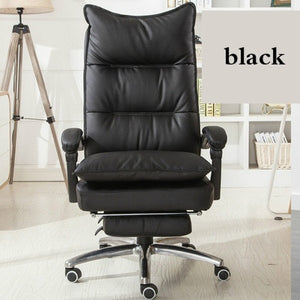 Office Chair Colorful PU Leather Office 180 Degree Reclining Massage Computer Chair Home Swivel Lifting Chaise Silla Gamer