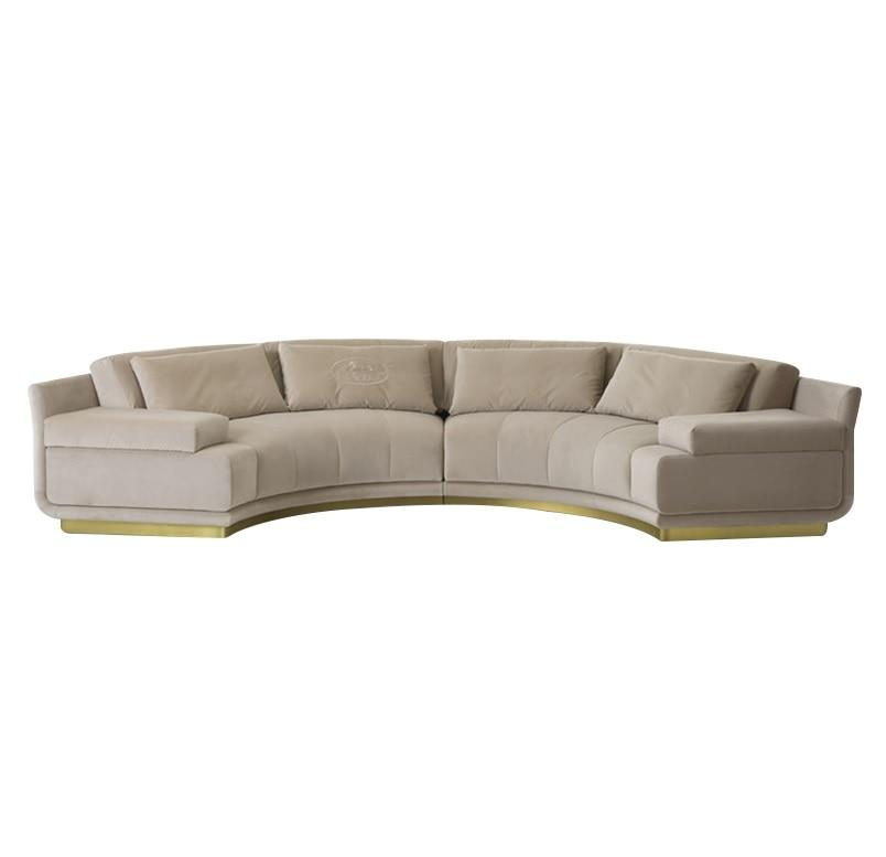 385cm Long Semi-Circle Sectional Sofa with Fabric Upholstery - LikeRE Marketplace