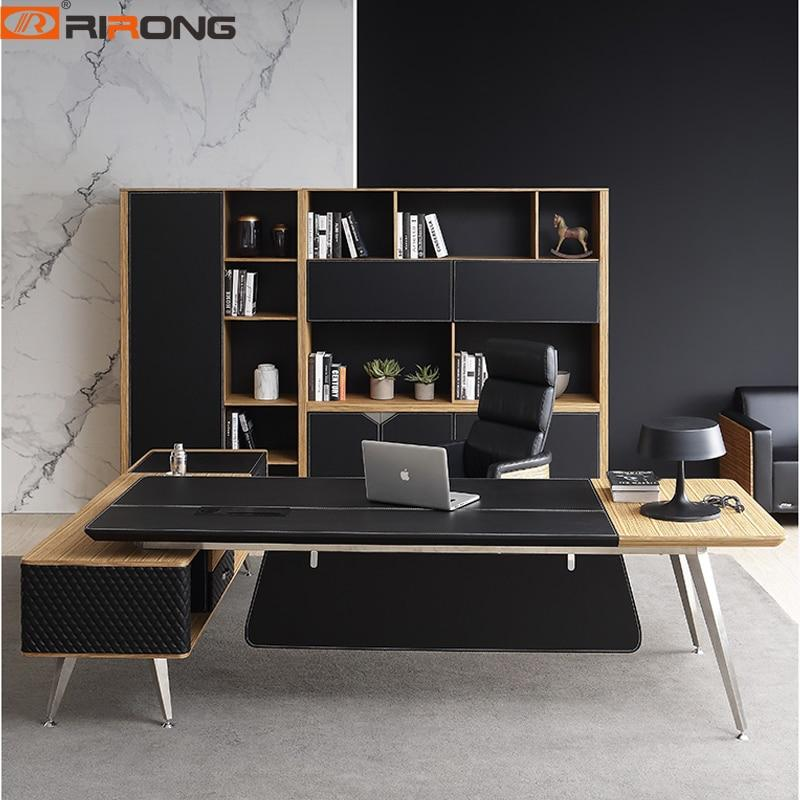 2 Meter Black Wood Office Furniture Computer Desk Personal Office Space Design  Study Tables Custom Office Desk Table Set - LikeRE Marketplace