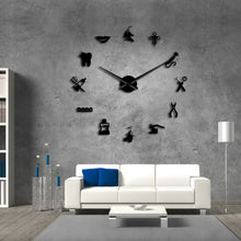 Load image into Gallery viewer, Personalized 3D Oversized Wall Clock Diy Acrylic Clock Living Room Background Wall Decoration Wall Clock Home 2020