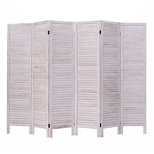Load image into Gallery viewer, 6 Panels Classic Venetian Wooden Slat Room Screen Traditional Chinese Room Screen Devider HW53906 - LikeRE Marketplace